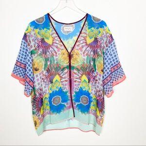 {Anthro} Dream daily kimono mimeo Magnolia top